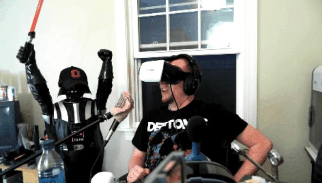 Guy Tries VR Porn